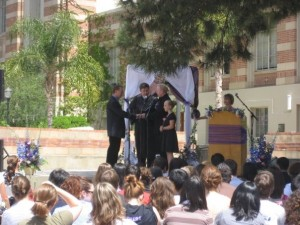 A symbolic gay marriage on the UCLA campus.  So beautiful.