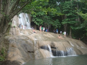 multilayer waterfall in thailand
