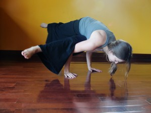 cool (and difficult) yoga pose