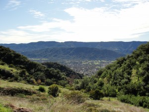 view that shows part of the town of ojai