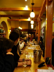 people getting ready to taste some wines