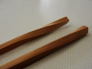 to-go ware chopsticks with twisted ends