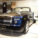 rolls royce with front door opening from the back