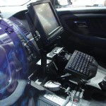 inside police car is a computer and other gadgets
