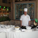 chef waiting at omelet bar for a request