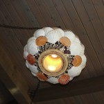 light cover made with seashells
