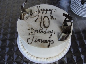 birthday cake from cupcakes couture for jimmy's 40th birthday