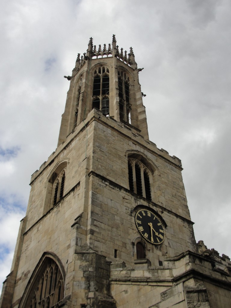 clock tower of all saints pavement parish in york