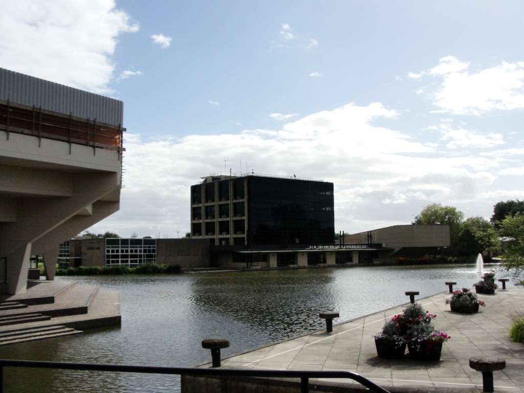 view of university of york lake and department of mathematics building