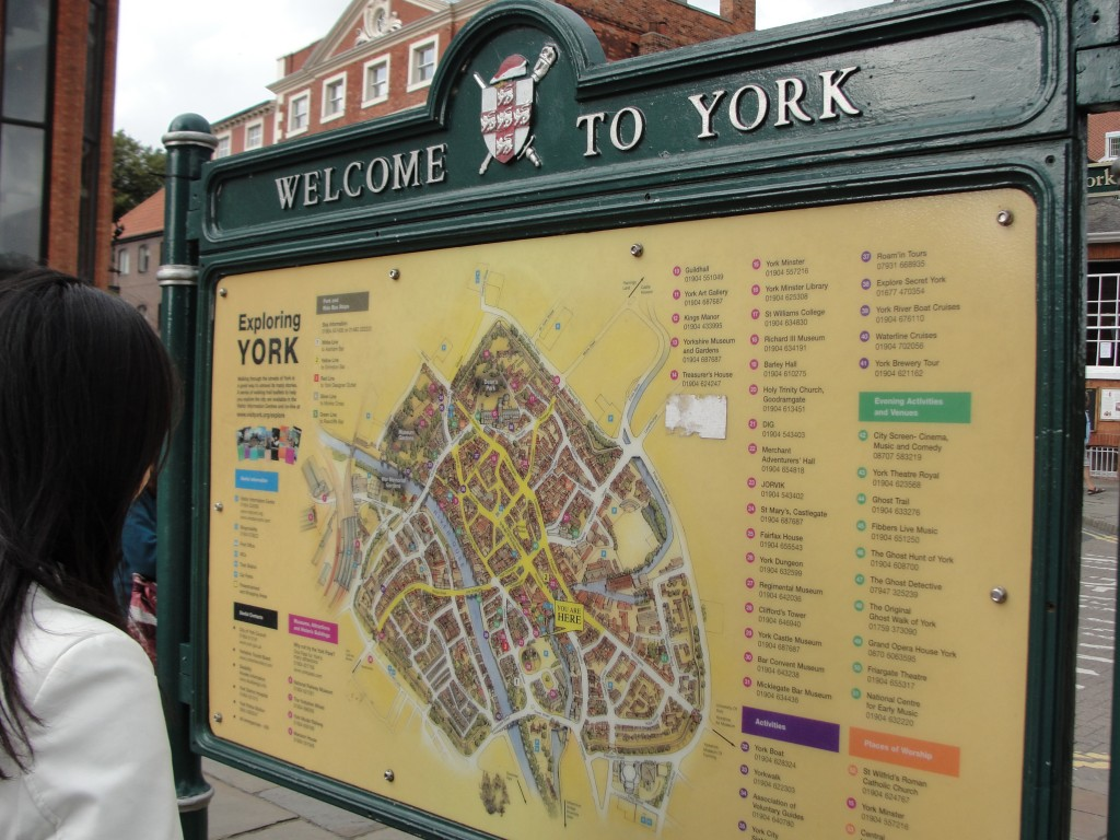 welcome to york large map in town