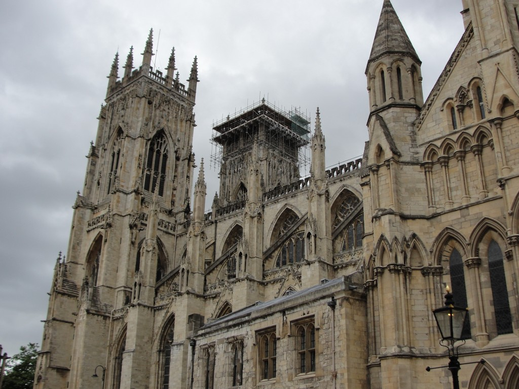view of york minster from side
