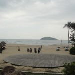 view of beach at shimei bay