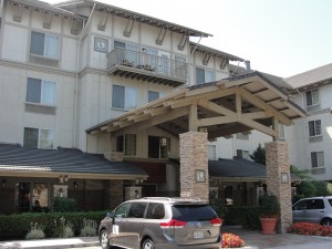 entrance to larkspur landing hotel in campbell california