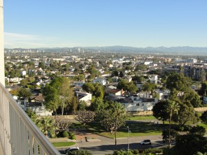 view of inland los angeles from ritz-carlton marina del rey
