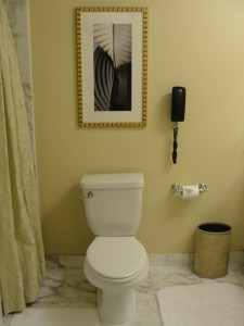toilet at ritz-carlton marina del rey with phone in reach