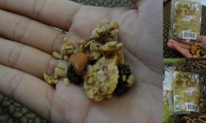 collage of giddy up and go granola in notoriously nutty flavor