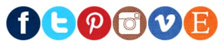 social media icon buttons: facebook, twitter, pinterest, instagram, vimeo, etsy