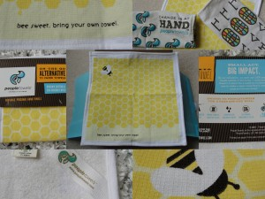 collage of people towels handtowel in bee sweet design included in the july 2012 yuzen box