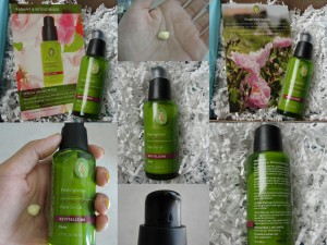 collage of primavera revitalizing face scrub included in the july 2012 yuzen box with coupon