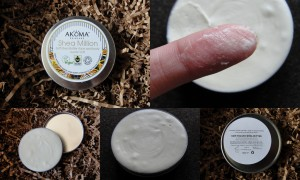 collage of akoma skincare shea million soft shea butter