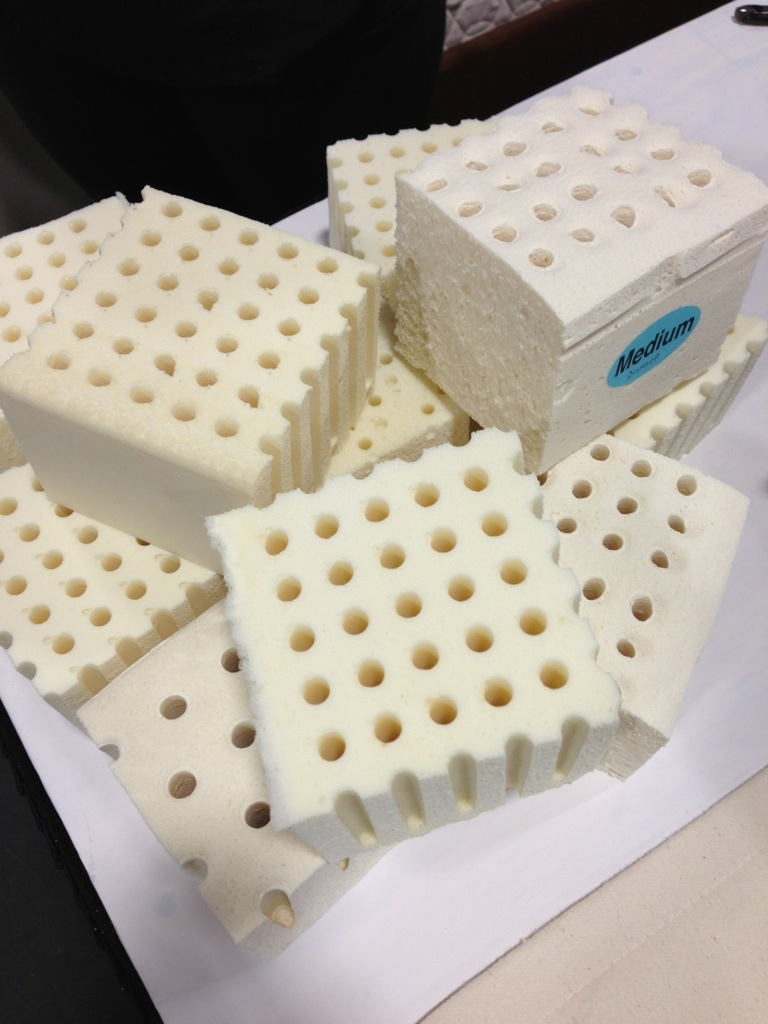 sample cubes of eco-friendly mattress material