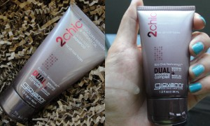 collage of giovanni brazilian keratin & argan oil ultra-sleek shampoo
