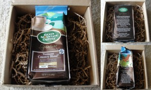 collage of green mountain coffee signature vermont country blend