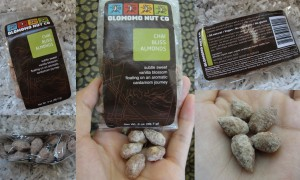 collage of olomomo nut co chai bliss almonds included in the august 2012 yuzen box