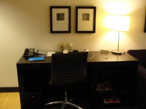 desk at w hotel silicon valley with arm-less swivel chair