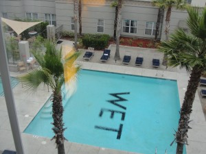 view of w hotel silicon valley pool from room