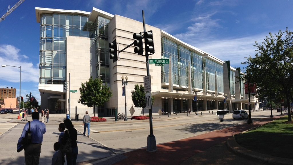 panorama of the washington convention center in dc, south side