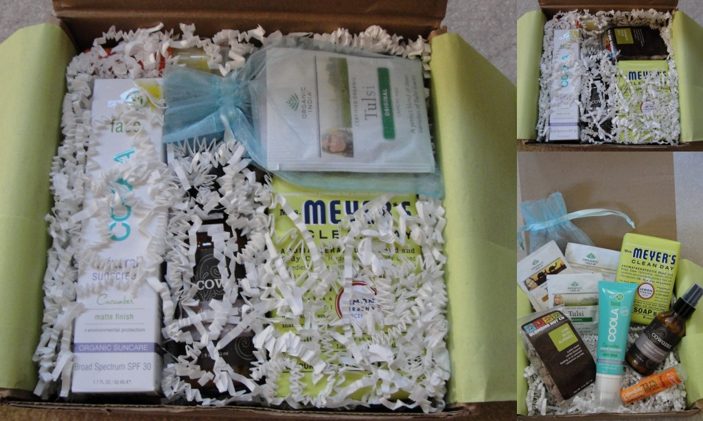 collage of products included in the august 2012 yuzen box