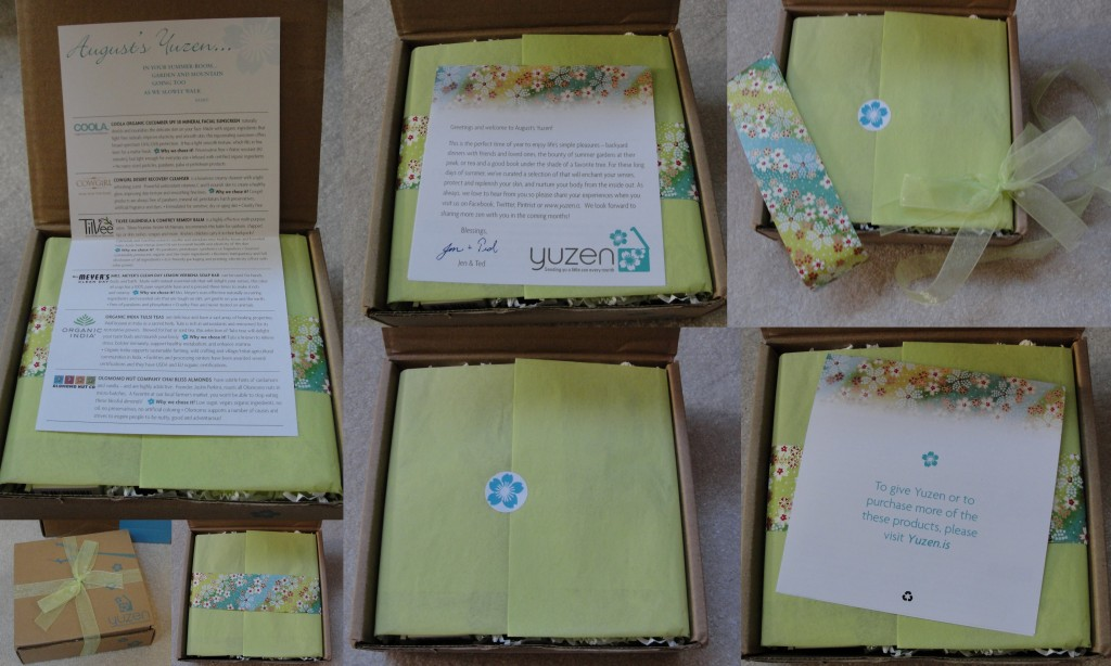 collage of unwrapping of august 2012 yuzen box