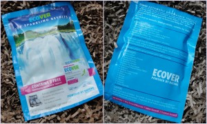 collage of ecover dishwasher tablets sample