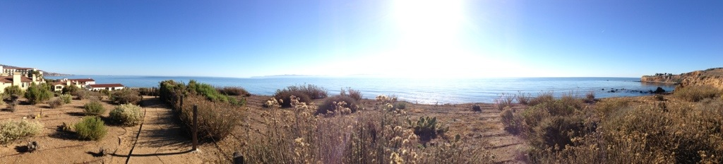 panoramic view of the pacific ocean from terranea resort