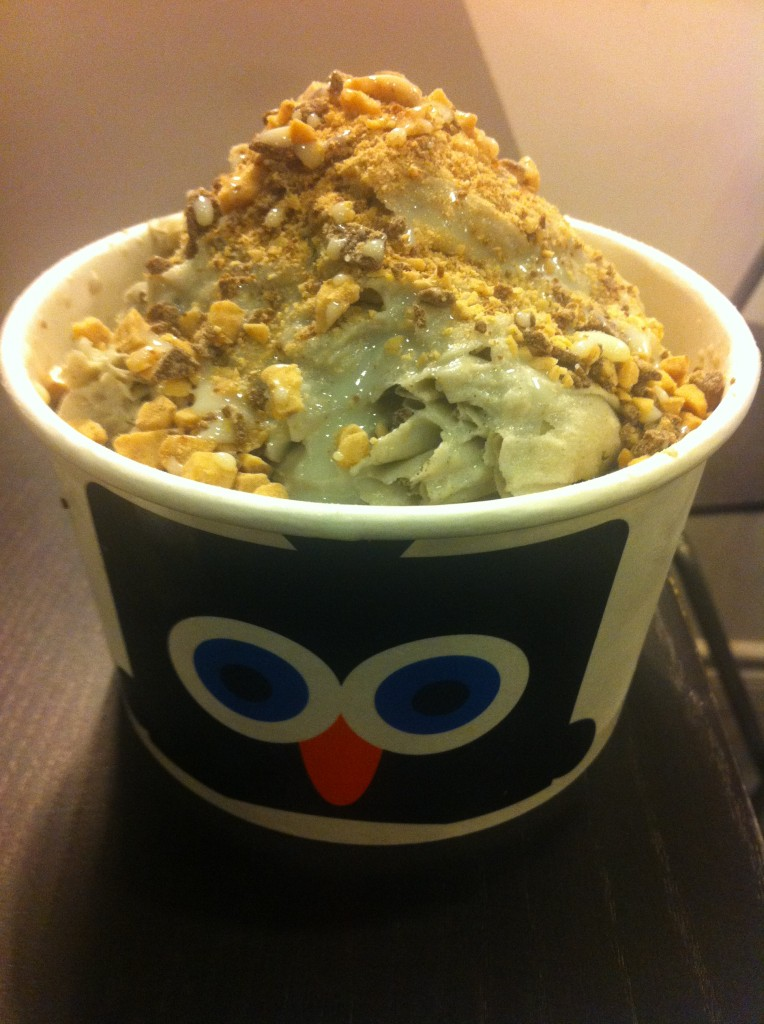 black sesame snow cream with toffee crunch and condensed milk drizzle from blockheads shavery