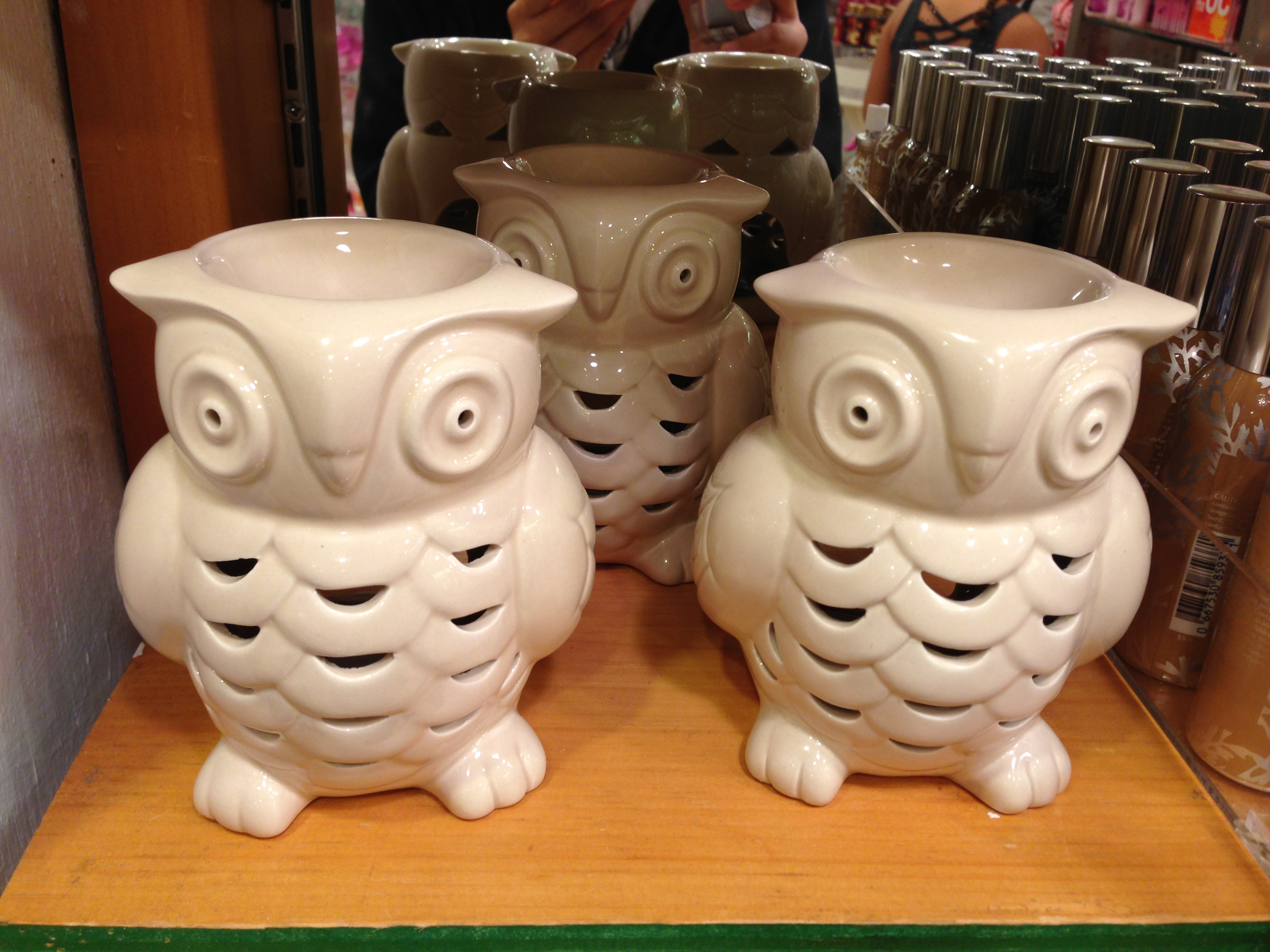 Ceramic Candle Holder In Shape Of Owl