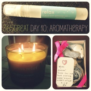 365great challenge day 10: aromatherapy