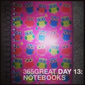 365great challenge day 13: notebooks
