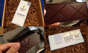 collage of scharffen berger bittersweet fine artisan dark chocolate bar