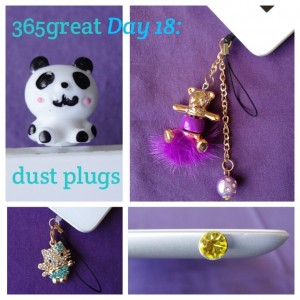 365great challenge day 18: dust plugs