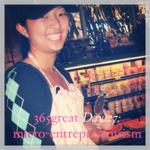 365great challenge day 27: micro-entrepreneurism
