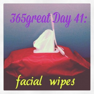 365great challenge day 41: facial wipes