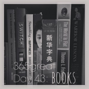 365great challenge day 43: books