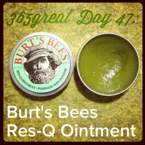 365great challenge day 47: burt's bees res-q ointment