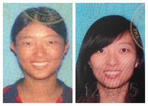 driver's license pictures side by side comparison