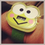 cute green keroppi watch limited edition from mcdonald's celebrating sanrio anniversary