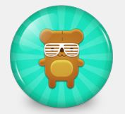 gogobot cartoon bear with sunglasses