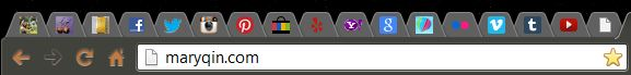 line of open tabs showing various favicons in browser