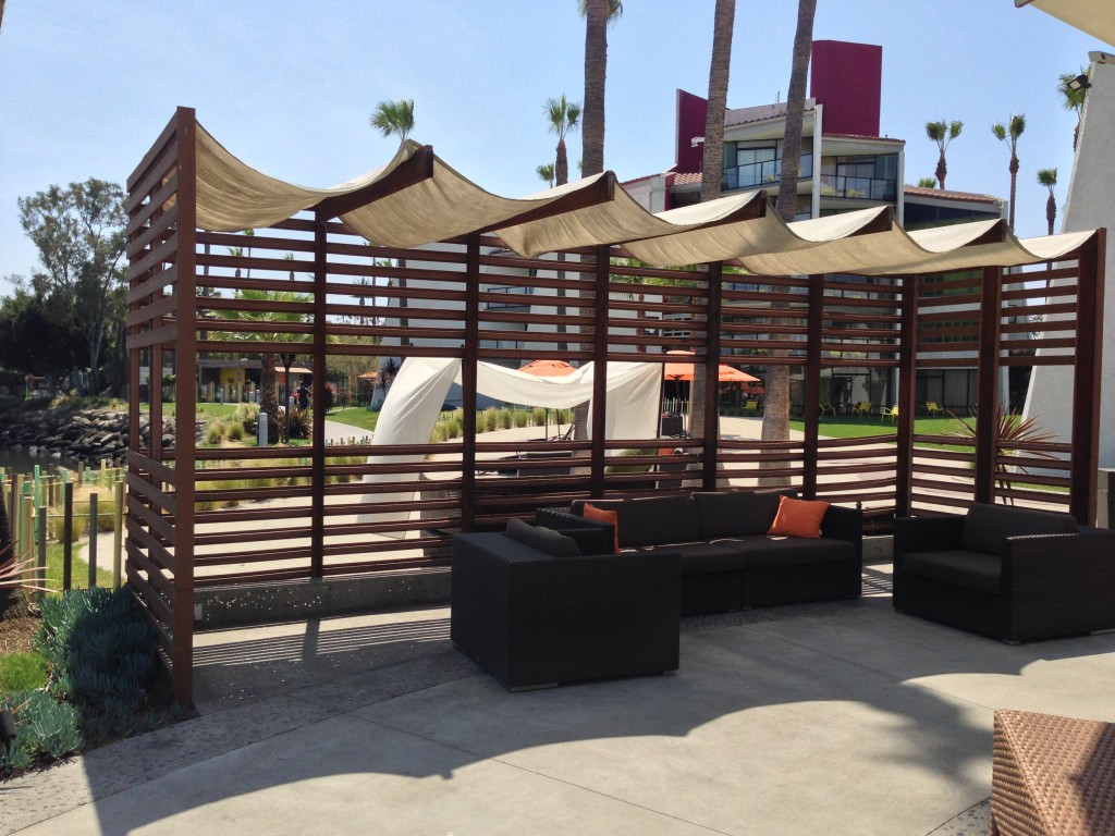 outdoor couches at hotel maya in long beach